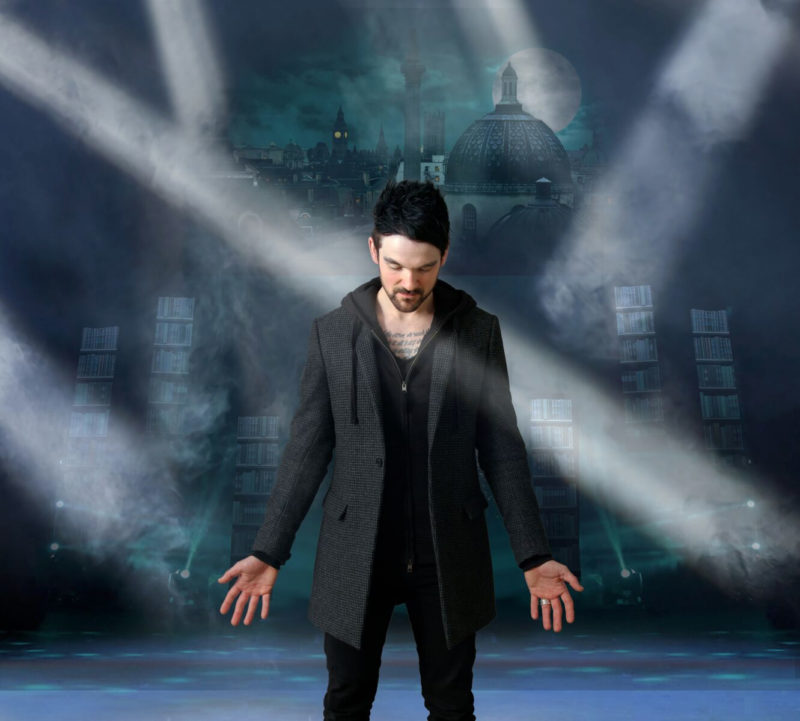 """Colin Cloud, known as """"The Deductionist"""" takes the stage."""